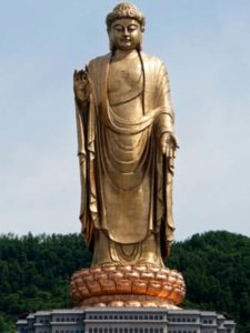 Spring Temple Buddha in China